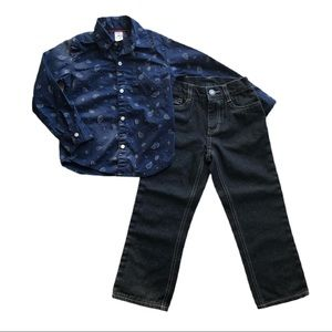 ⭐️ Boys Size 4T Carters & Polo Jeans Outfits
